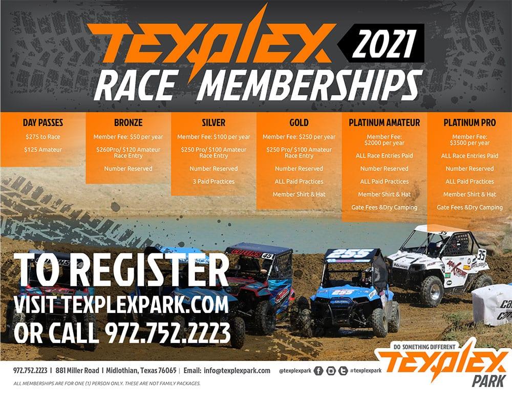 Texplex Park Race Membership