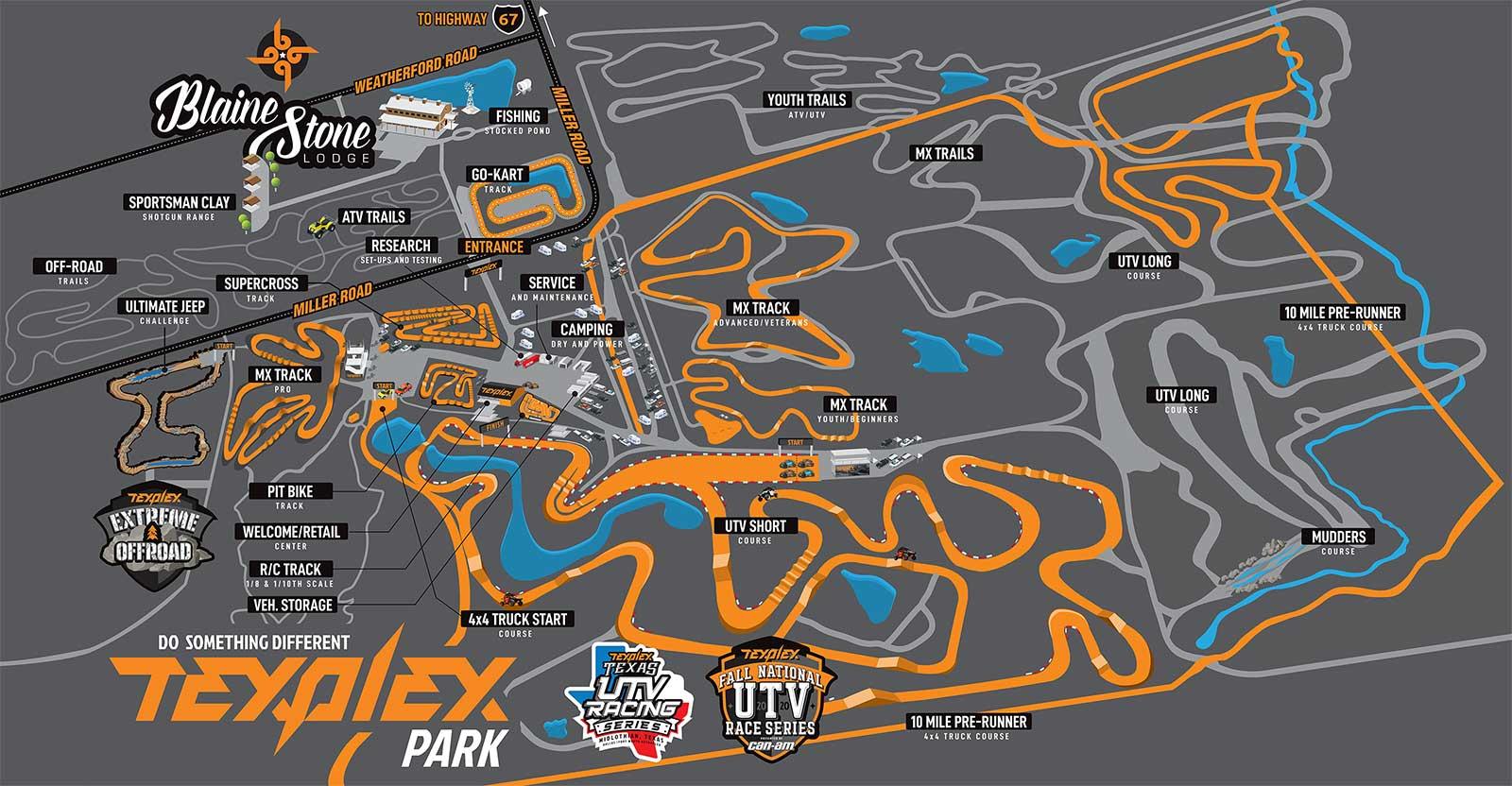 Texplex Park Map